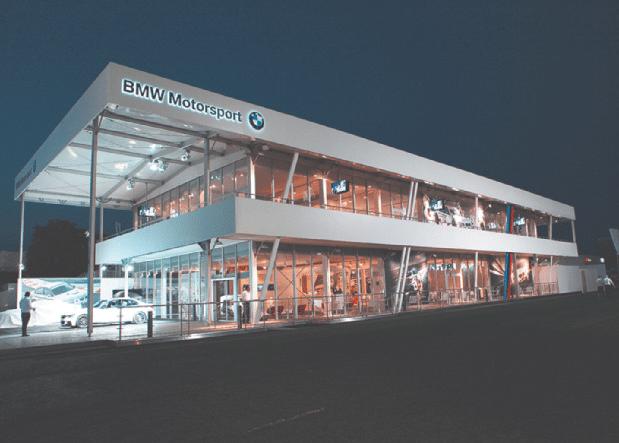 Raumlösung von Zelte Frank für BMW Motorsport