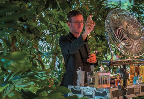 Duft-DJ auf einem Event