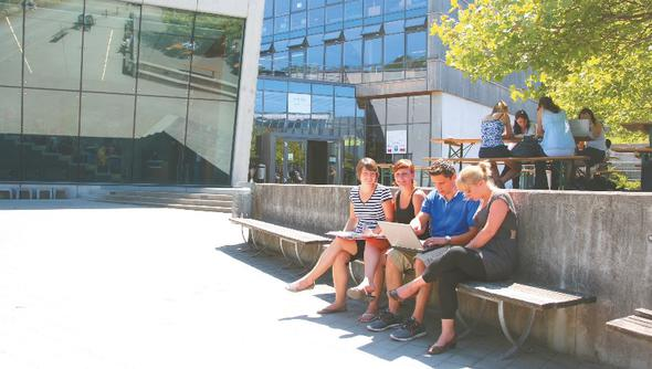 Studenten an der HS Heilbronn