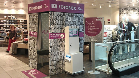 Fotobox auf Messe