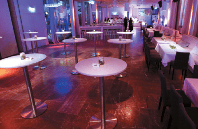 Lounge im Café Moskau