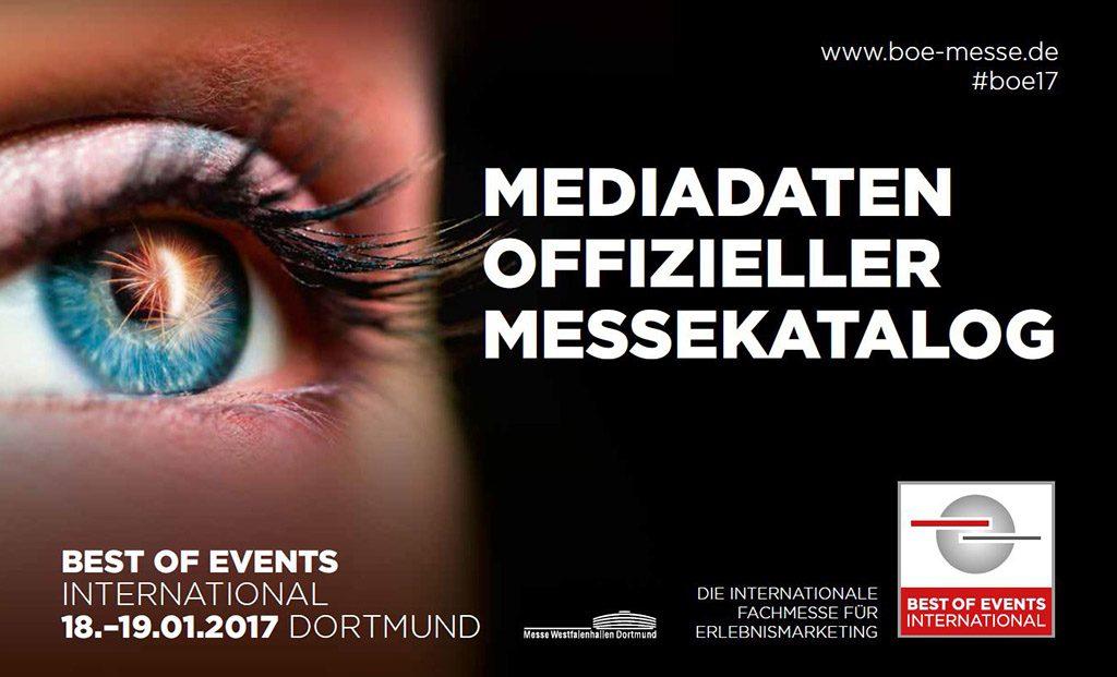 Mediadaten für den BOE-Messekatalog 2017