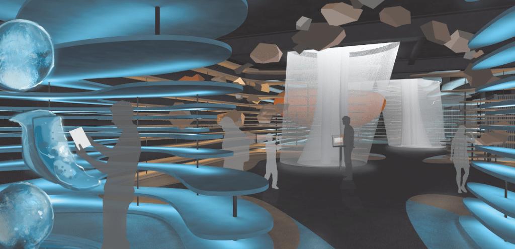 Der Deutsche Pavillon von innen