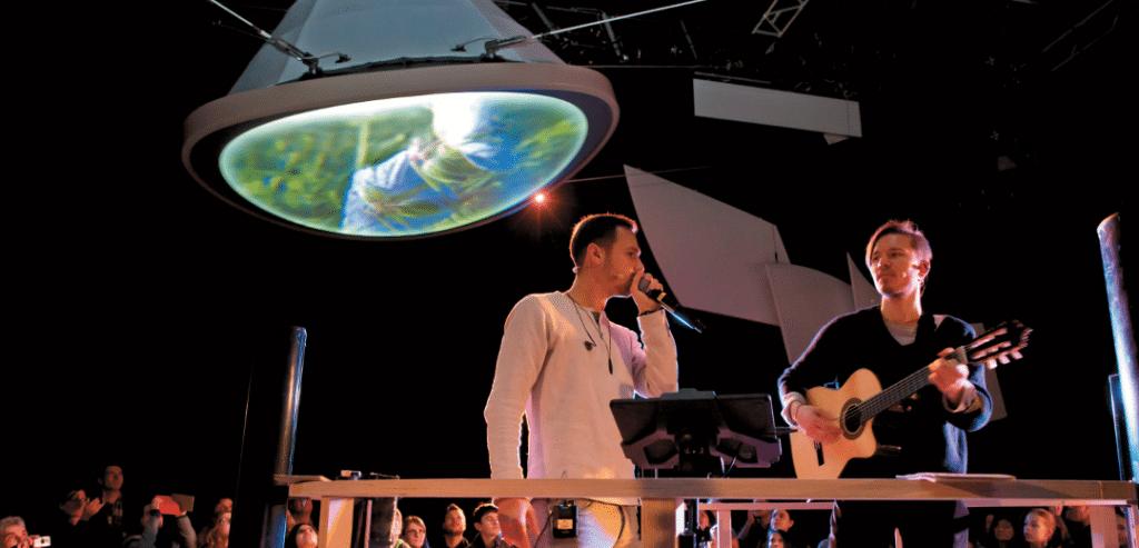 Die Proben zur Show im Deutschen Pavillon finden in einem ehemaligen Filmstudio in Ludwigsburg statt
