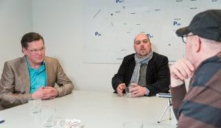 Andreas Schäfer und Alexander Petrusch und Klaus Zittrich (v.r.)