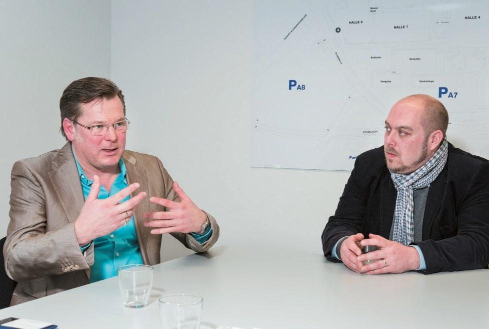 Klaus Zittrich, Geschäftsführer von Amecko, und Alexander Petrusch, Projektleiter bei Creative-Event-Consulting (CEC)