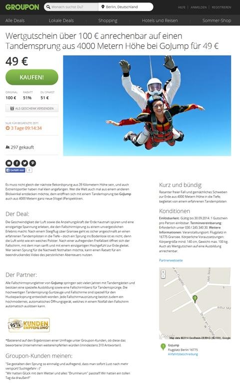Groupon Website Berlin