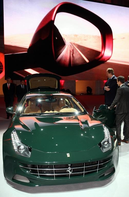 Präsentation des neuen Ferrari Four (FF) beim Deutschland-Kick-off in Berlin