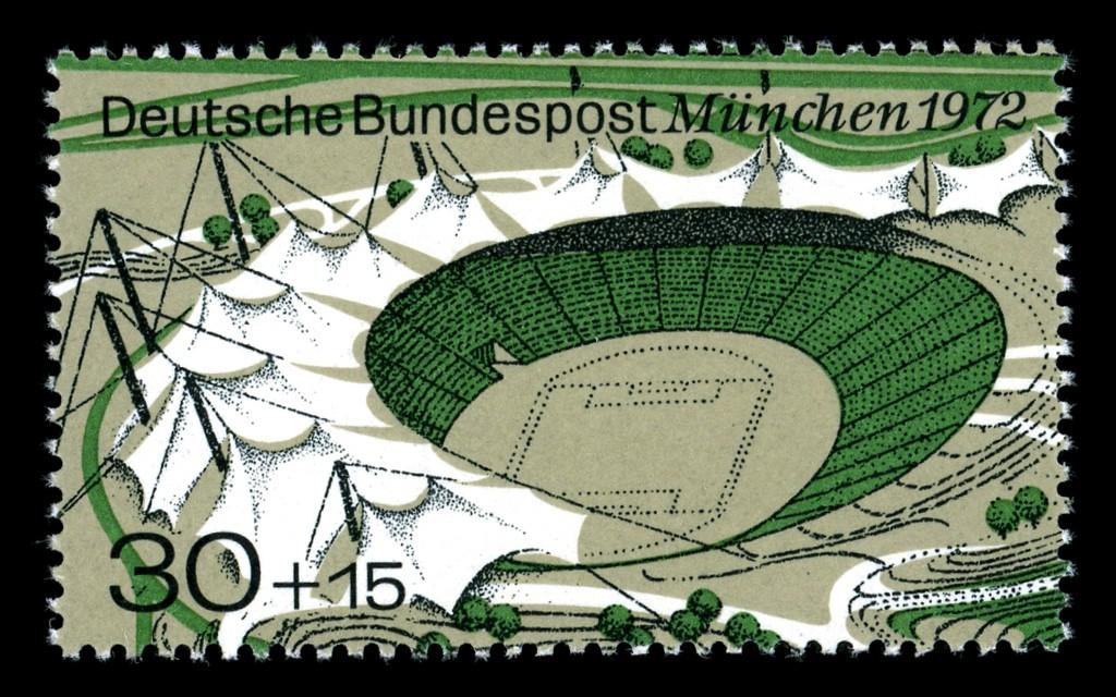 Briefmarke zur Olympiade 1972 in München