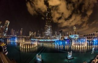 New Year's Eve Gala 2012/2013 in Downtown Dubai am Fuße des Burj Khalifa