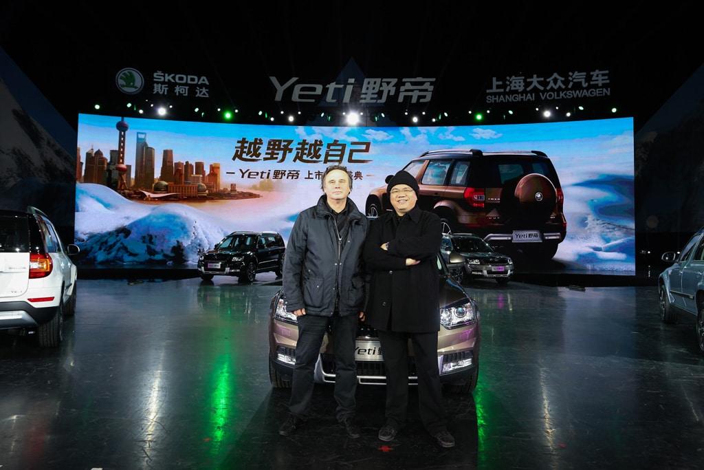 Andree Verleger (l.), Media Artist und CEO von ABC Event Production, und Charlie Chen, CEO SMS Group – Sculpture Marketing Services
