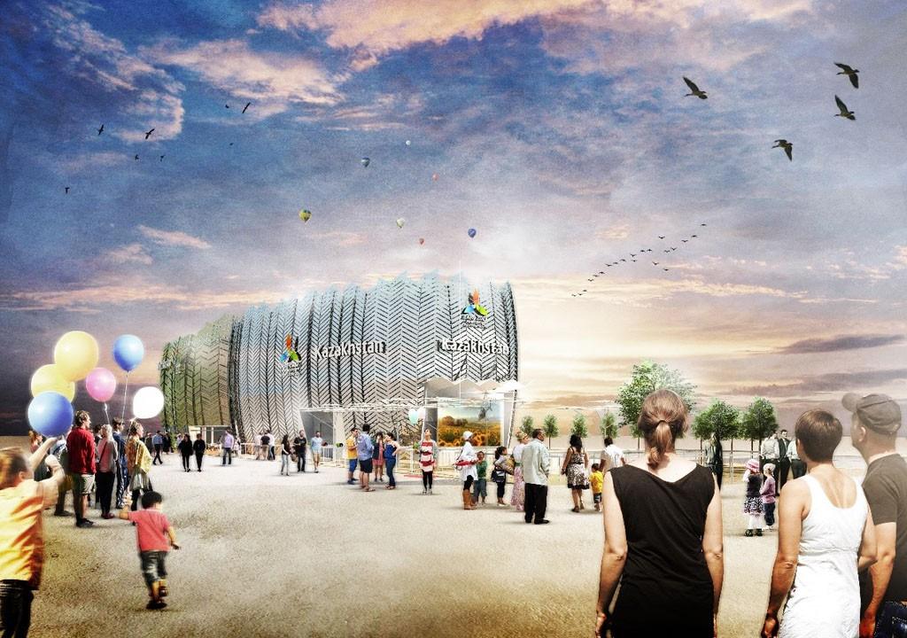 Grafische Ansicht des Pavillons Kasachstan auf der EXPO Milano 2015, konzipiert von facts and fiction