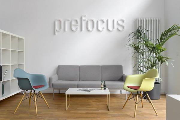 Prefocus Räumlichkeiten Sitzecke