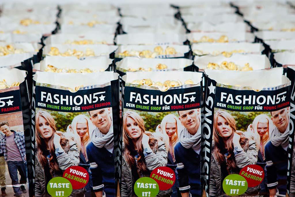Real erlebbare Markenwelt des Online Stores Fashion5 im CineStar Cubix in Berlin