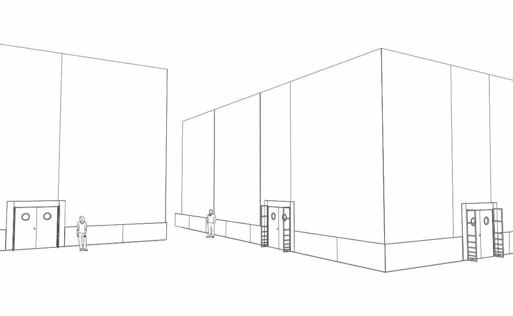 Mit dem Mobilen Raumbausystem von AMBION sind beliebige Raummaße bis 10 m Höhe umsetzbar.