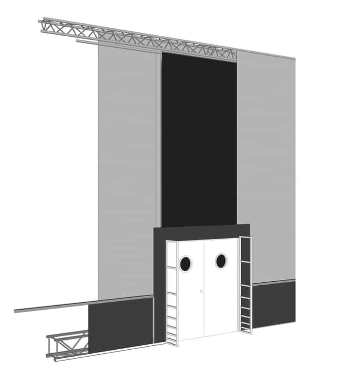 Modularer Aufbau des mobilen Raumbausystems von AMBION