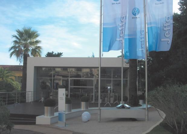 Volkswagen ist ebenfalls im Kundenportfolio von Zelte Frank vertreten