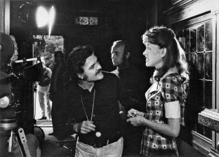"""Michael Ballhaus beim Einleuchten während der Dreharbeiten zu """"Martha"""" - der erste Film mit dem Ballhaus-Kreisel."""
