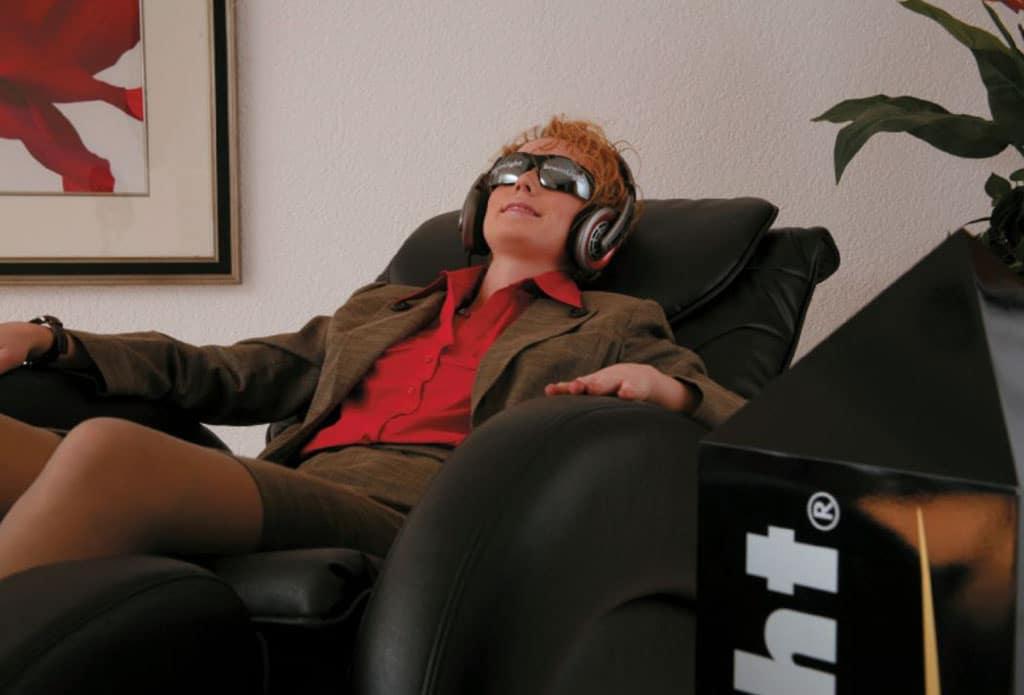 Entspannungsmethode im Sessel