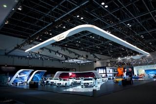 Audi Messestand auf der Dubbai Motorshow