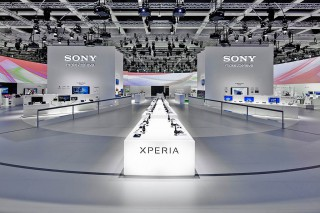 Messestand von Sony bei der Funkausstellung in Berlin 2014
