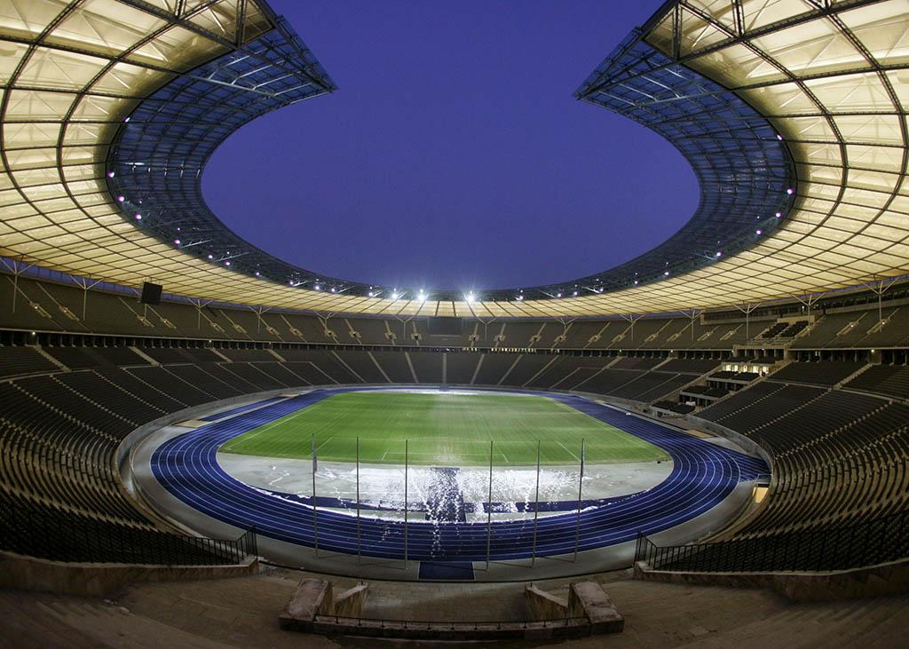 Das Olympiastadion Berlin bietet eine atemberaubende Kulisse