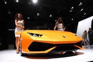 Messehostessen für Lamborghini auf der IAA 2015