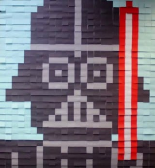 Darth Vader Bild aus Post-Its