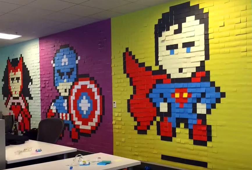 Superhelden aus Post-Its