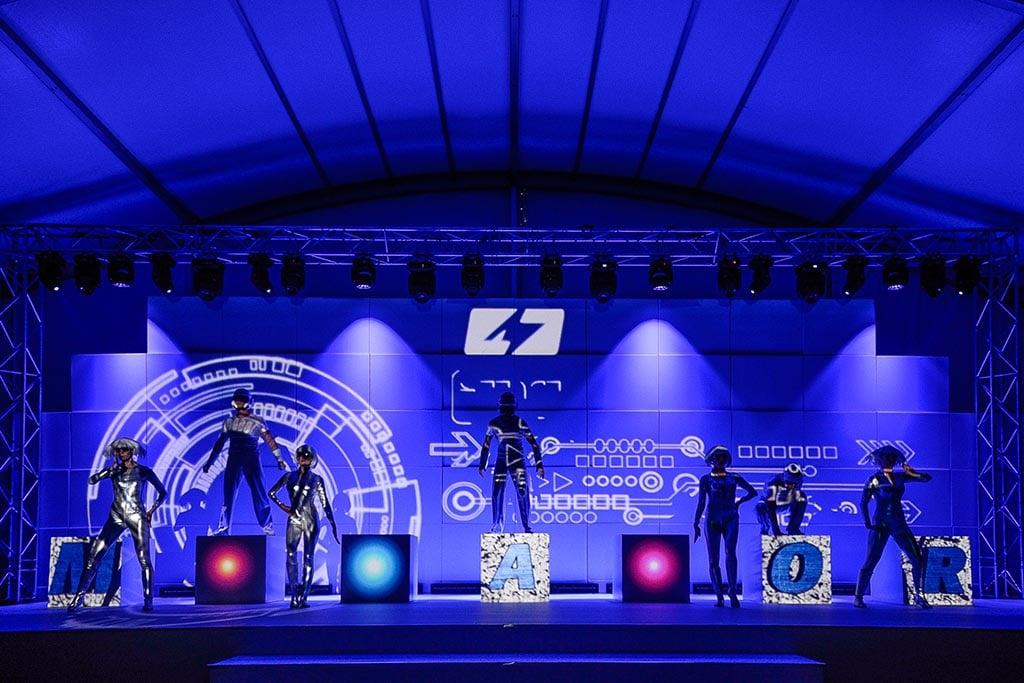 Bühne beim 50. Jubiläum von Monacor
