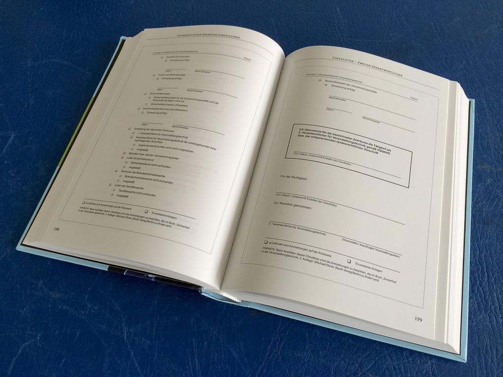 Buch: Sicherheit in der Veranstaltungstechnik