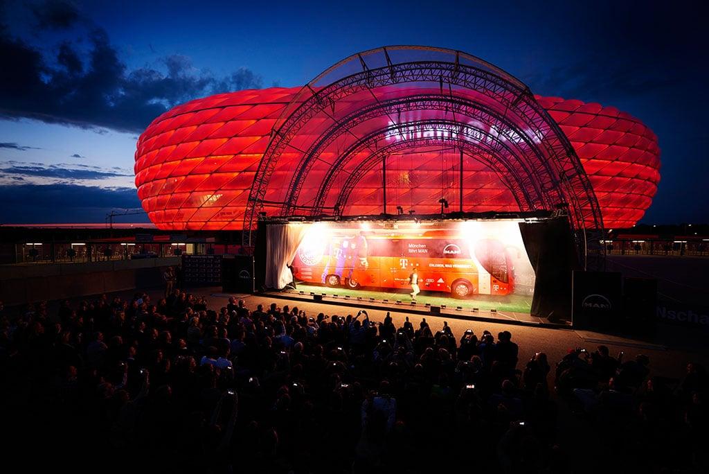 Vorstellung des neuen FC Bayern Mannschaftsbusses