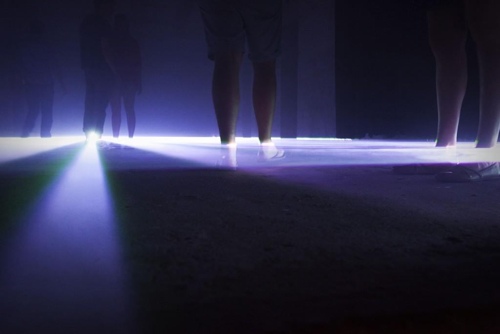 Platine Festival 2015: Lichterloh Laserinstallation