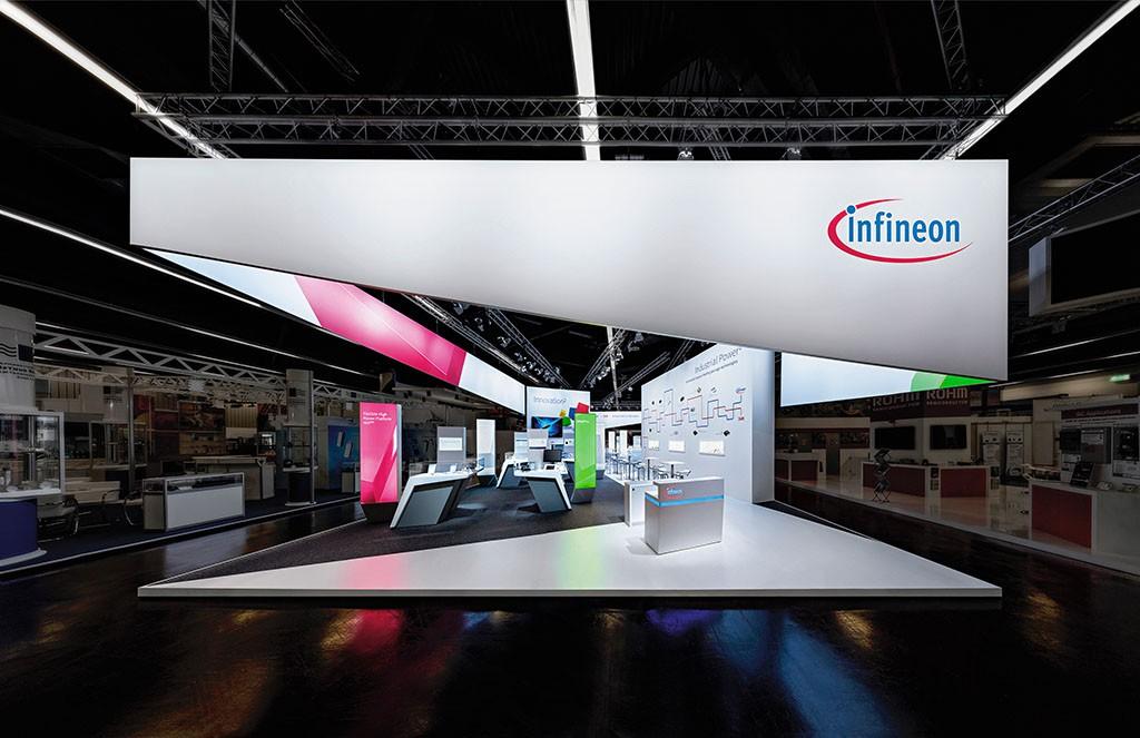 Messestand von Infineon Technologies