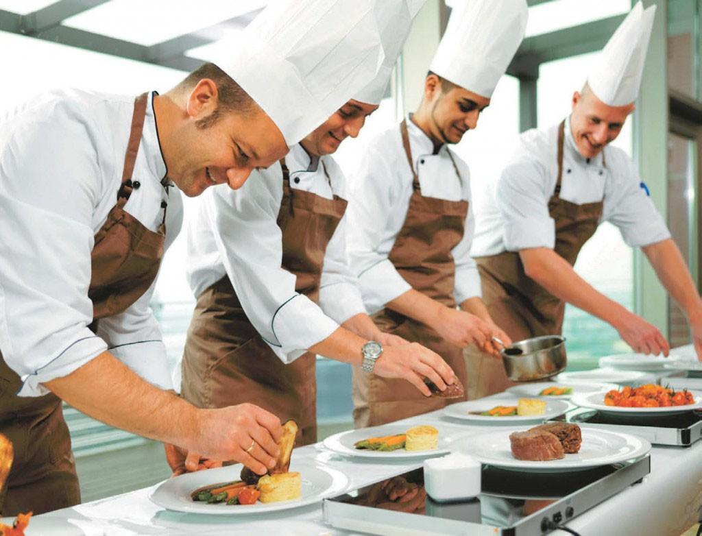 Catering Team in der Küche