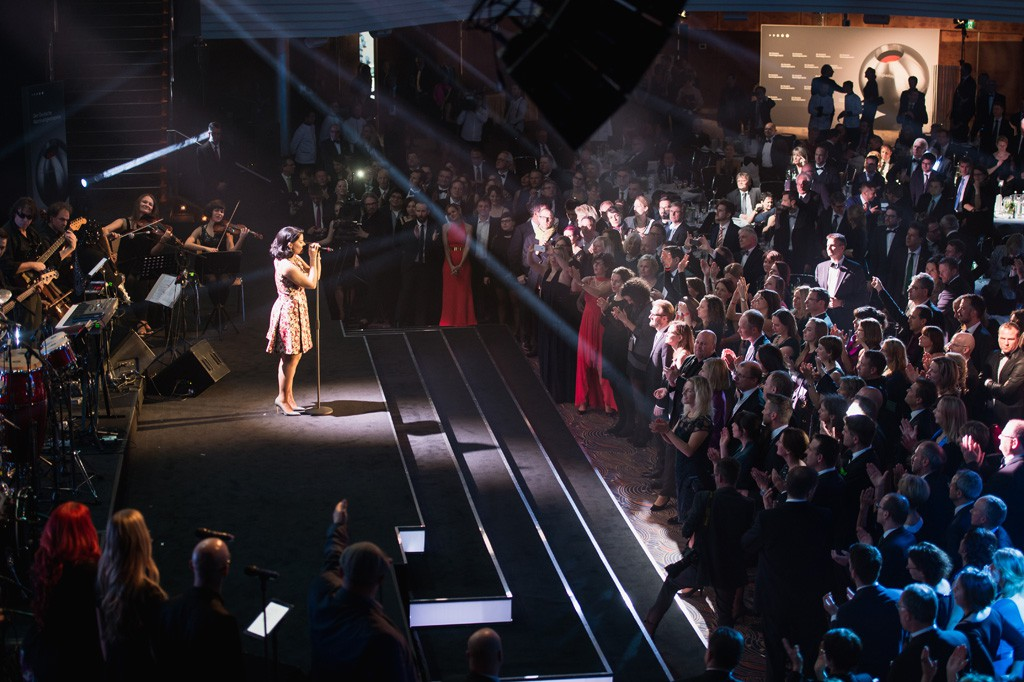 Auftritt von Nelly Furtado beim Deutschen Nachhaltigkeitspreis 2014