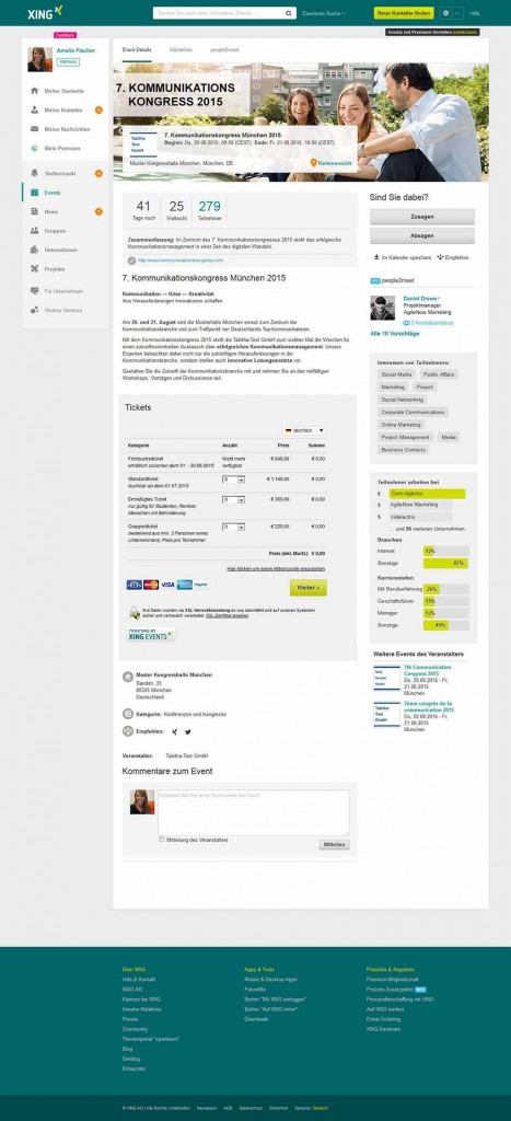 Event PLUS Detailseite mit Statistik DE