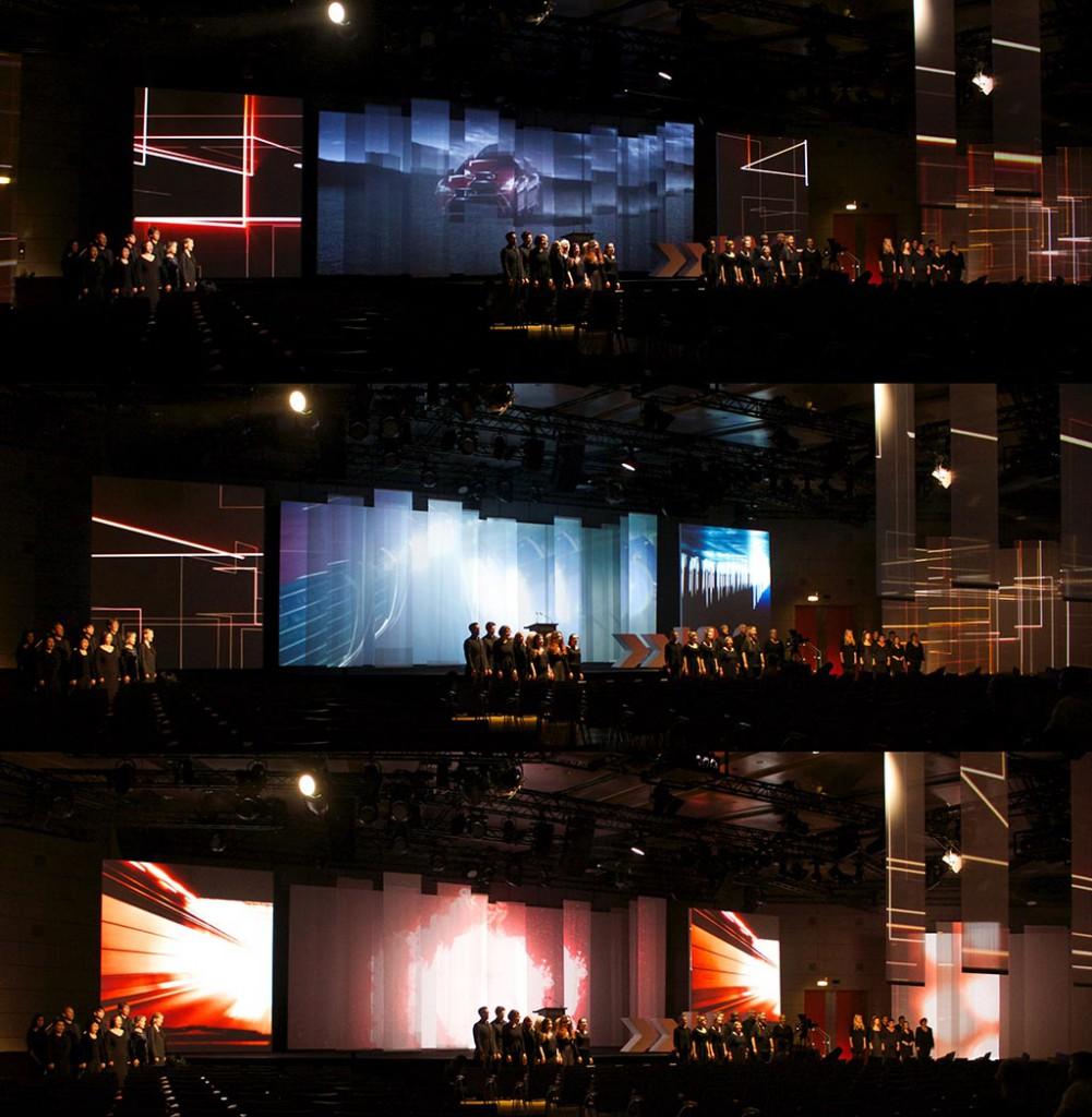 Eröffnung der IAA 2015 mit live singendem Chor