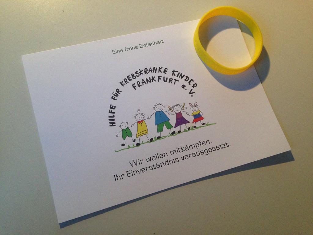 Die PP Agentur für Events & Promotions supportet mit ihrer Weihnachtsspende 2015 einen Frankfurter Verein, der krebskranken Kindern hilft.