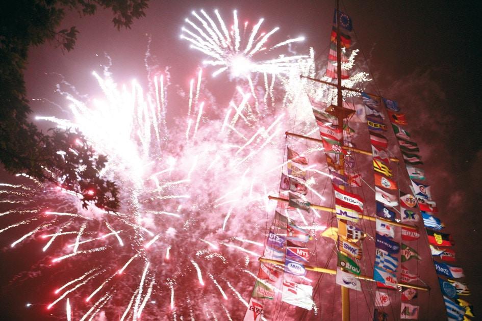 Feuerwerk beim Haniel-Jubiläum