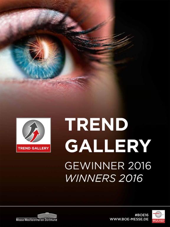 Deckblatt Trend Gallery Gewinnerbroschüre 2016
