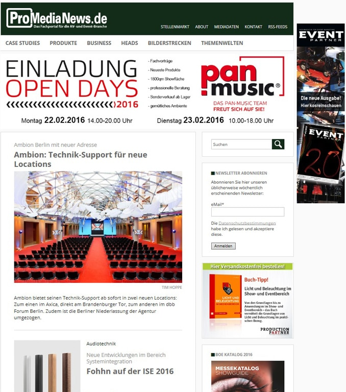ProMediaNews Relaunch
