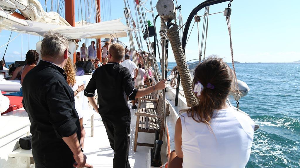 Teambuilding auf einem Segelschiff
