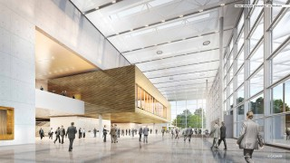 Das Foyer der neuen Halle 1+2 der Messe Düsseldorf, ab 2019