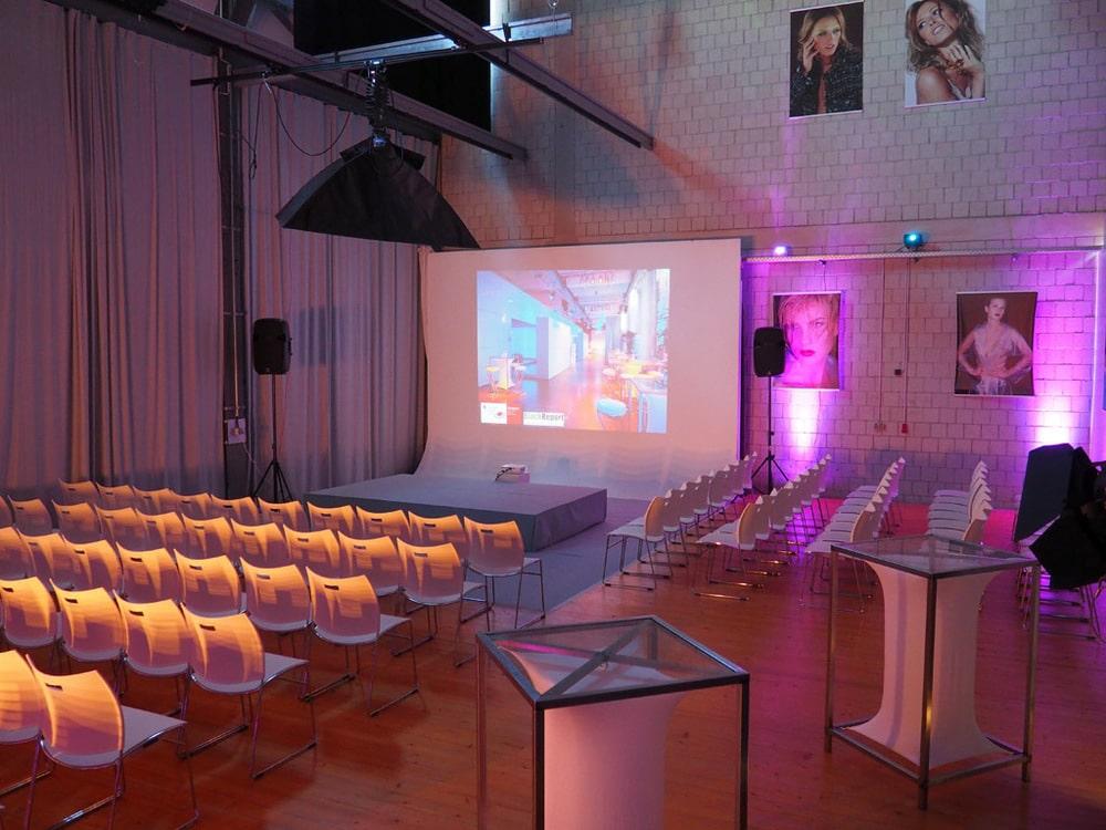 Studio für Fotoshootings, Filmdrehs und Workshops