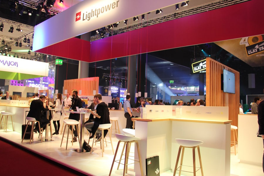 Messestand von Lightpower