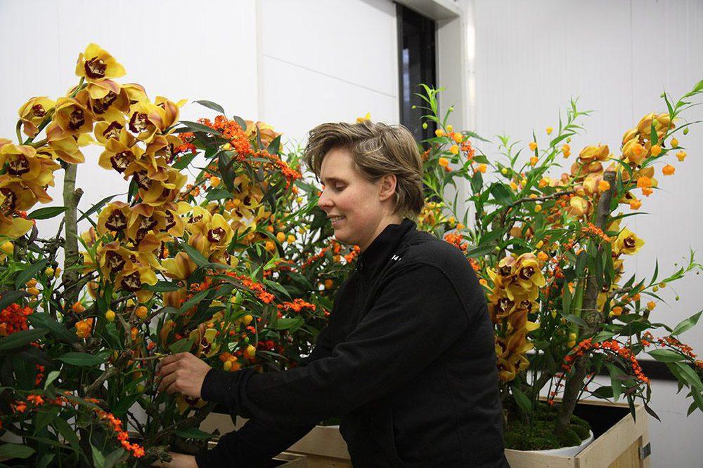 Miranda van Zonsbeek, Floristin bei Van der Maarel Eventstyling