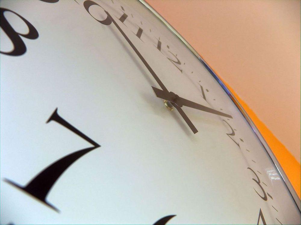 Uhr in Nahaufnahme
