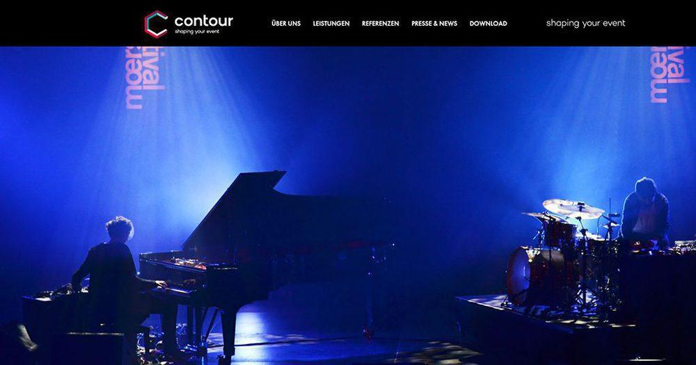 Screenshot von Contour.tv