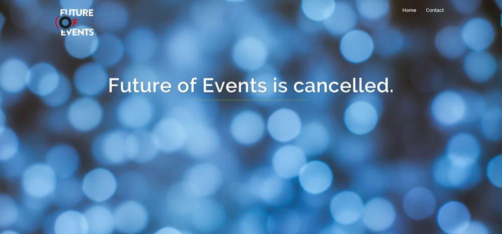 Future of Events Websiten-Screenshot